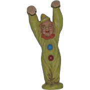 Vintage Doll Miniature Jester Clown Bisque Marolin German Figurine