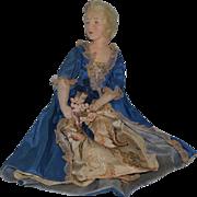 Old Doll Evelyn Green Artist Doll Wonderful Turned Head Fab Costume