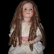 "Antique Doll HUGE Heubach Koppelsdorf 31"" Bisque Head Wonderful"