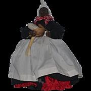 Doll Artist Vonnie Staton Mammie Doll Signed W/ Original Tag Black Doll