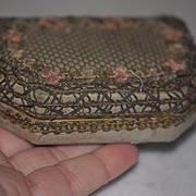 Antique Doll Miniature Decorative Box w/ Compartments & Mirror Fashion Doll Vanity Box