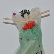 Vintage Doll Miniature Cloth Ballerina China Head Wonderful Pipe Cleaner