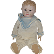 Old Doll Oil Cloth Gertrude Rollinson in Sailor Outfit