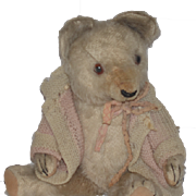 Old Teddy Bear Jointed Mohair Adorable Face
