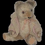 Old Teddy Bear Jointed Mohair Adorable Face