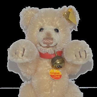 Vintage Teddy Bear Miniature Steiff W/ Bent Paws and Tags Button Ear