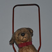 Old Dog Push Toy Pull Toy Mohair Adorable for Doll