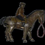 Old Tin Metal Horse Wind Up German D.R.G.M.