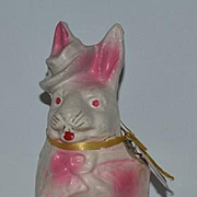 Old Rabbit Papier Mache Doll Toy Candy Container Bunny