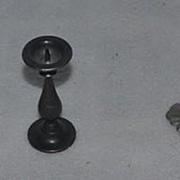 Old Doll Miniature Dollhouse Items Candles Glass Cat Miniature Figurine Glass Perfume Bottle