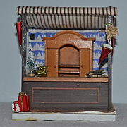 Vintage Doll Miniature Diorama Room Box Christmas Shop Dollhouse