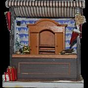 Vintage Doll Miniature Diorama Room Box Christmas Shop Dollhouse