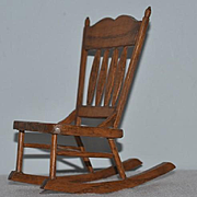 Vintage Doll Miniature Artist Rocking Chair Glen Wilson