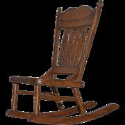 Vintage Doll Miniature Artist Rocking Chair Glen Wilson