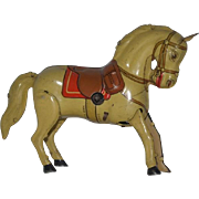 Old Toy Tin Litho Wind Up Horse D.R.G.M. Miniature Dollhouse