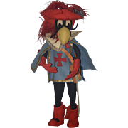 Wonderful Doll Rous Bros Italian Felt Doll Tagged Character Captain Bird