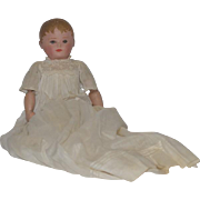 Old Doll Cloth Doll Oil Cloth Rag Doll in Wonderful Long Christening Dress Martha Chase Sweet Size