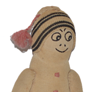 Old Doll Cloth Doll Stockinette Character Unusual