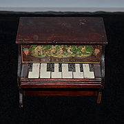 Old Doll Bliss Miniature Working Piano Wood & Litho