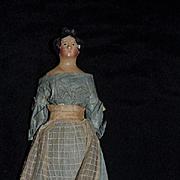 Antique Doll Milliner's Model Papier Mache Paper Mache Fancy Hair Style