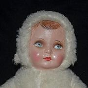 Old Doll Cloth Doll Rag Doll Deans Rag Books English Rare Snow Baby Mask Face Original Tag