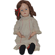 Old Doll Schoenhut Wood Carved Jointed Large Doll