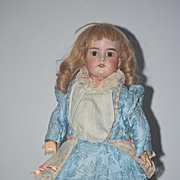 Antique Doll Bisque Head Walker Mechanical Wind up