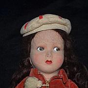Old Doll Farnell Felt Doll Wonderful Character Face Original Clothing Farnell's Alpha