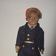 Old Doll Lenci W/ Original Tag Smoker Boy Felt Cloth Doll