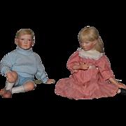 Wonderful Doll Set Linda Steele Originals COOKIE and COREY