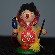 Vintage Doll Steinbach Wood Unusual Miniature