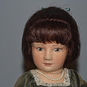 Vintage Doll R. John Wright Rachel- Sunday Best W/ Signed note with Artist Doll Holding a Doll