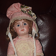 Antique Doll French Bisque Steiner A Fancy Closed Mouth Straight Wrist