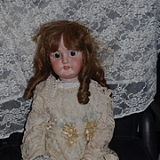 "Antique Doll Bisque Big Girl SIMON & HALBIG 1079 32"" Tall"