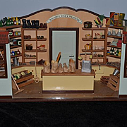 Wonderful Dollhouse Store Wood General Store w/ Contents Full of Miniatures