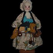 Wonderful Doll Artist Peddler Doll Wood Head Sweet!