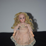 Antique Doll Miniature Bisque Head Dollhouse W/ Wonderful Jointed Composition Body Walkure