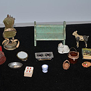 Miniature Doll Dollhouse Items Accessories Mannequin Mirror Candelabra Books Stove Cards Staffordshire & More
