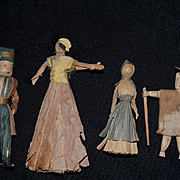 Antique Doll Lot Dolls Miniature Tobacco Leaf W/ Seed Head Corn Husk Dolls Indian Unusual Folk Art