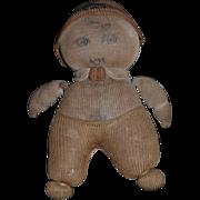 Wonderful Old Doll Stockinette Cloth Doll Rag Doll Folk Art Adorable