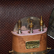 Wonderful Old Miniature Manhattan Bar W/ Original Glass Bottles and Accessories Dollhouse or Fashion Doll