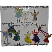 Wonderful Doll Set Miniature New Zealand Tree Fairies Wood Fairy 10 DOLLS Original Outfit