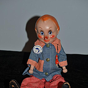 Antique Doll Rare Wood & Composition Pinocchio By Freundlich Wonderful Jointed