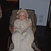 Antique Doll Large Bisque Head Baby Doll Antique Clothing WONDERFUL Dream Baby
