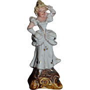 Old Doll Miniature Figurine For Dollhouse Fancy Lady Porcelain
