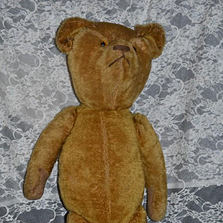 Wonderful Old Teddy Bear Mohair Humpback Squeaker Jointed