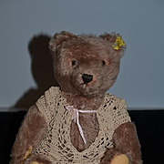 Vintage Steiff Teddy Bear Jointed W/ Button Tag Mohair 1950's