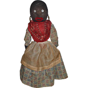 Old Doll Cloth Doll Rag Doll Stockinette Black Lady