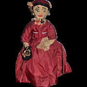 Old Cloth Doll Lady Fancy Crochet Doll