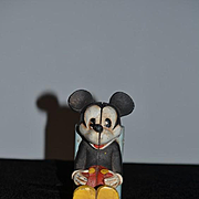 Old Mickey Mouse Bookend Bank Walt Disney Prod Cast Iron